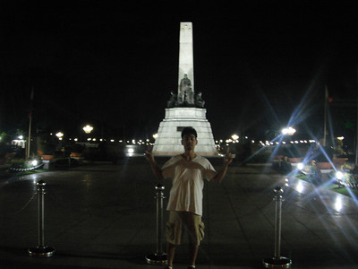 West of the Rizal Park Monument at Luneta Park...http://en.wikipedia.org/wiki/Rizal_Park