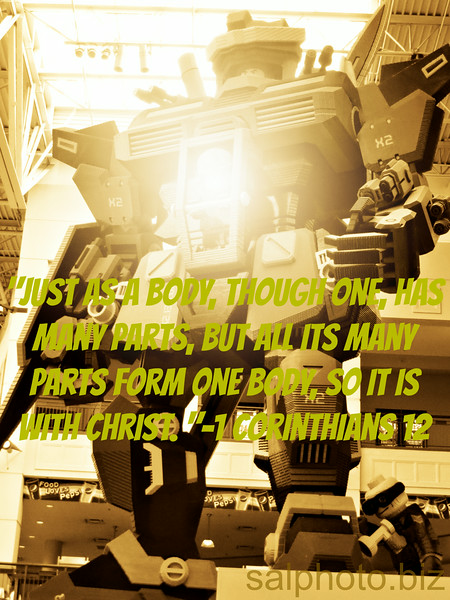 """1 Corinthians 12 New International Version (NIV)Concerning Spiritual Giftshttps://www.biblegateway.com/passage/?search=1+Corinthians+12Unity and Diversity in the Body12 Just as a body, though one, has many parts, but all its many parts form one body, so it is with Christ. 13 For we were all baptized by[c] one Spirit so as to form one body—whether Jews or Gentiles, slave or free—and we were all given the one Spirit to drink. 14 Even so the body is not made up of one part but of many.15 Now if the foot should say, """"Because I am not a hand, I do not belong to the body,"""" it would not for that reason stop being part of the body. 16 And if the ear should say, """"Because I am not an eye, I do not belong to the body,"""" it would not for that reason stop being part of the body. 17 If the whole body were an eye, where would the sense of hearing be? If the whole body were an ear, where would the sense of smell be? 18 But in fact God has placed the parts in the body, every one of them, just as he wanted them to be. 19 If they were all one part, where would the body be? 20 As it is, there are many parts, but one body.21 The eye cannot say to the hand, """"I don't need you!"""" And the head cannot say to the feet, """"I don't need you!"""" 22 On the contrary, those parts of the body that seem to be weaker are indispensable, 23 and the parts that we think are less honorable we treat with special honor. And the parts that are unpresentable are treated with special modesty, 24 while our presentable parts need no special treatment. But God has put the body together, giving greater honor to the parts that lacked it, 25 so that there should be no division in the body, but that its parts should have equal concern for each other. 26 If one part suffers, every part suffers with it; if one part is honored, every part rejoices with it.27 Now you are the body of Christ, and each one of you is a part of it. 28 And God has placed in the church first of all apostles, second prophets, third teachers, then mirac"""