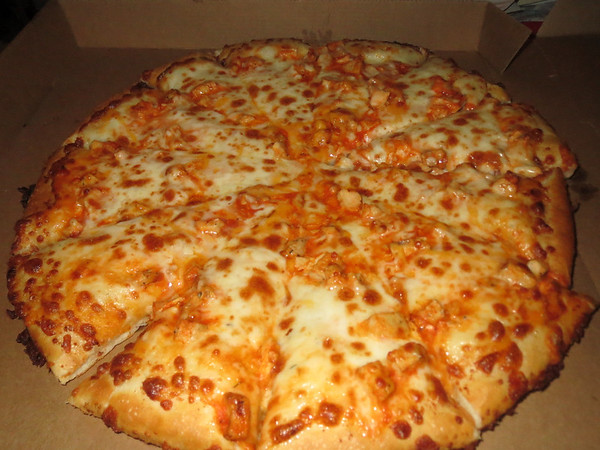 Using my 50% off any pizza coupon and shared this with my housemates on Thursday, February 13th 2014. Great food for cold winter days!Buffalo Chickenhttp://www.pizzaranch.com/fooditems/C8It's got just the right kick. Chicken, Hot Sauce, Ranch Dressing, Two Cheeses