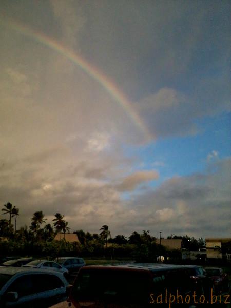 Early Morning Rainbow Over Laie-Oahu, Hawaii